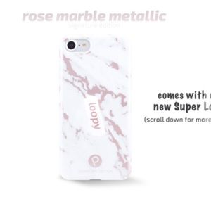 Loopy iPhone 6/7/8 rose marble case